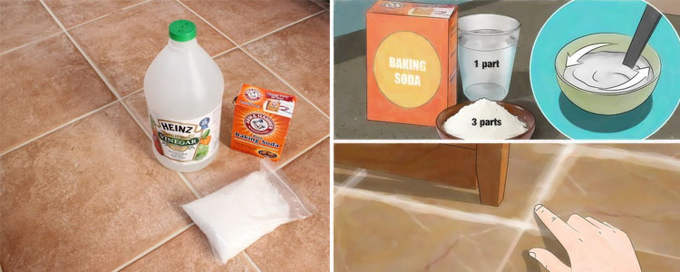 Mixture Vinegar Baking Soda