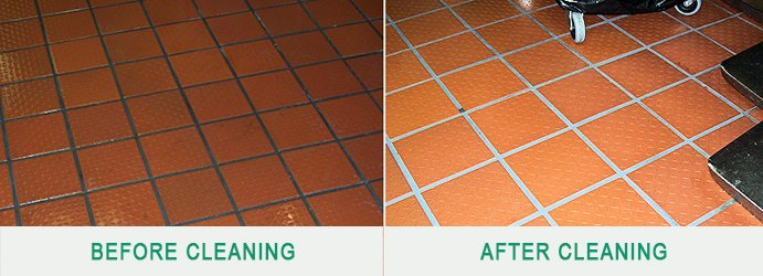 Tile and Grout Cleaning Before and After Sunset Strip