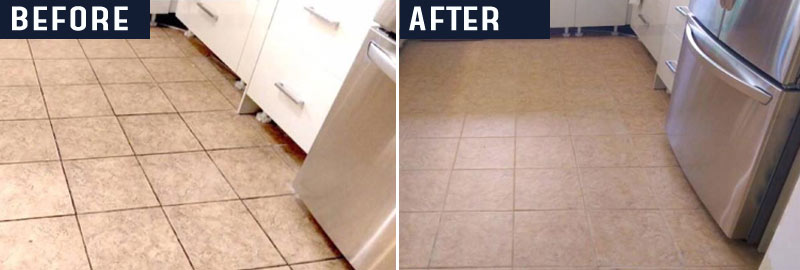 Before and After Tile and Grout Cleaning Perth