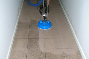 Floor grout cleaning
