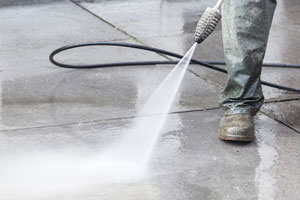 High-Pressure Cleaning White Beach