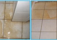How to Remove Yellow Stains From Bathroom Tiles