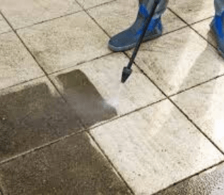 High-Pressure Cleaning Willow Banks